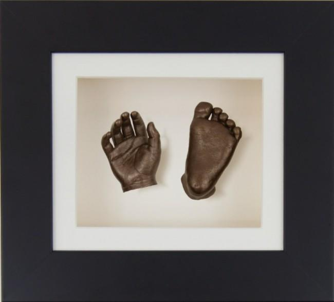 Baby Casting Kit Black Frame Soft Cream Display Bronze paint