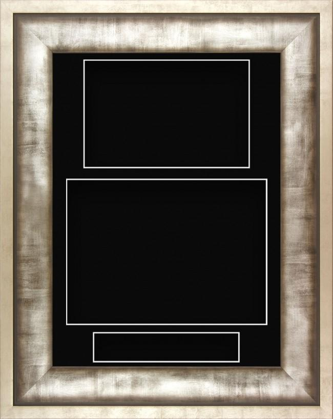 12x9 Urban Silver Pewter Grey Deep Display Frame Black Portrait