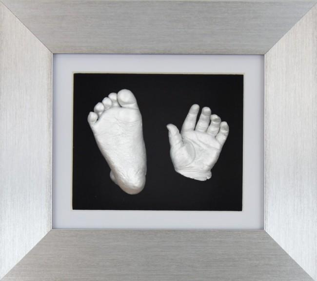 Baby Casting Kit Silver Frame White Black Display Silver paint