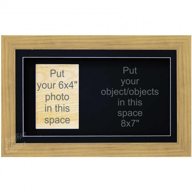 Large Medium Oak Effect 3D Box Display Frame Keepsakes Casts