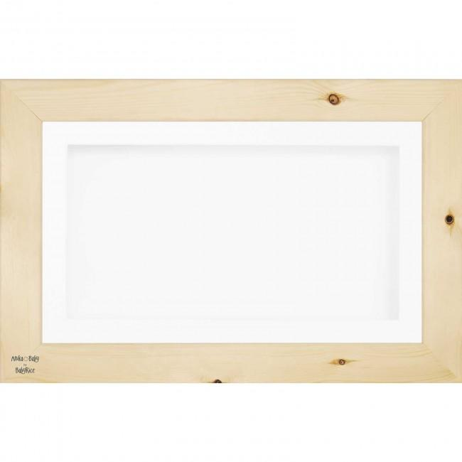 "15x9"" Wooden Shadow Box Deep Frame, Natural Pine wood"