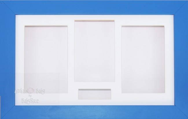 Large Blue 3D Shadow Box Display Frame / White