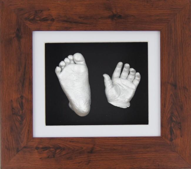 Baby Casting Kit Mahogany effect Frame White Black display Silver