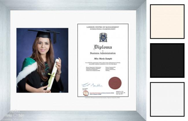 Large Brushed Silver Frame A4 10x8 Photo Picture Certificate Graduation Diploma Wedding