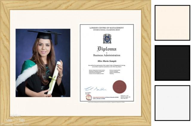 Solid Oak Wood Frame A4 10x8 Photo Picture Certificate Graduation Diploma Wedding