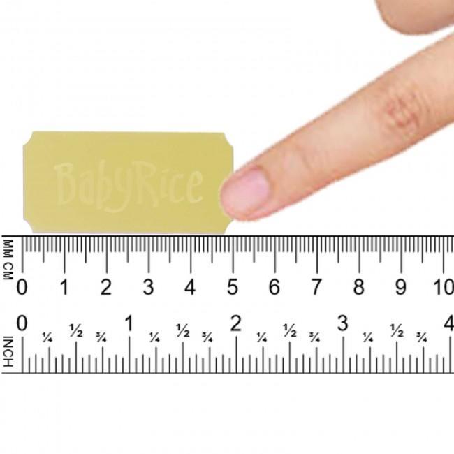 "Gold Rectangle Plaque, Scalloped Edges, 50x25mm / 2x1"" inch – Blank"