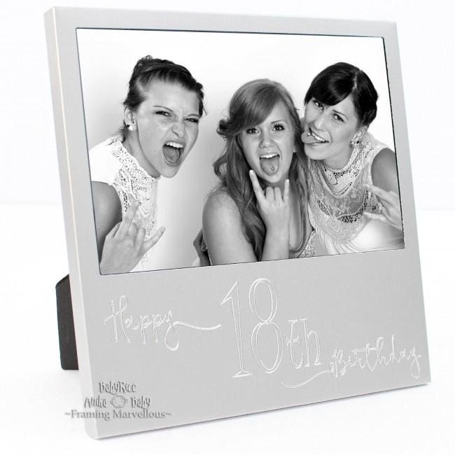 New Engraved Silver 18th Birthday Photo Frame Gift Celebration Memory Picture