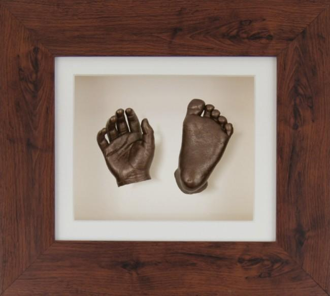 Baby Casting Kit Mahogany effect Frame Cream Display Bronze