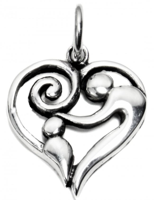 Sterling Silver Mother and Baby Charm
