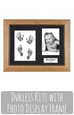 Baby Footprints Kit with Photo Display Frame