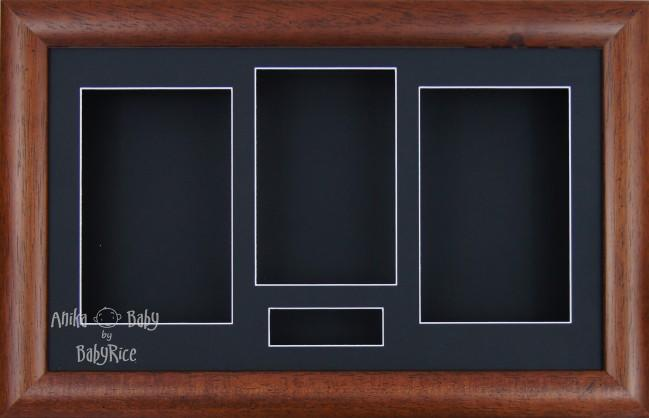 Large Dark Wood Wooden 3D Shadow Box Display Frame / Black