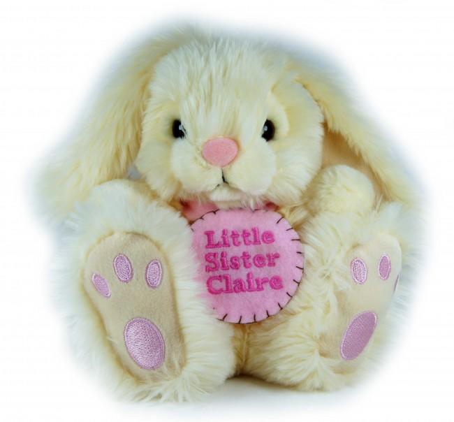 Personalised Felt Badge Cream Rabbit Small 18cm