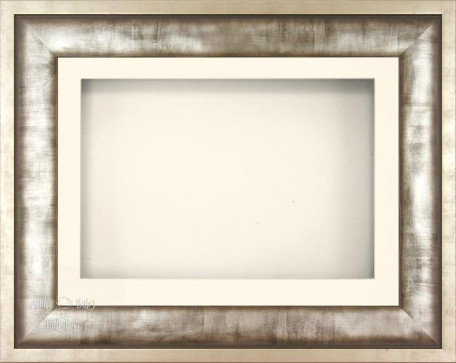 "12x9"" Urban Metal 3D Display Frame 1 Hole Cream Mount Cream Back"