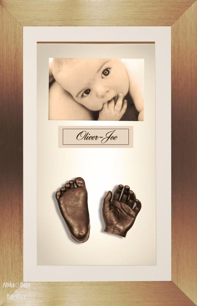 Large Twins Baby Casting Kit / Brushed Bronze Frame / Bronze Casts