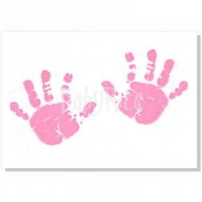 Canvas With Pink Baby Paint Wipe / Swab