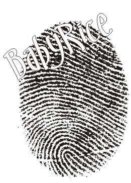 Fingerprint using BabyRice Inkless Handprint and Footprints Kit