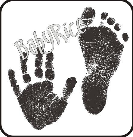 BabyRice Inkless Handprint and Footprint