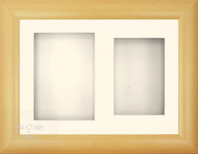 "11.5x8.5"" Beech effect Frame Cream 2 mount"