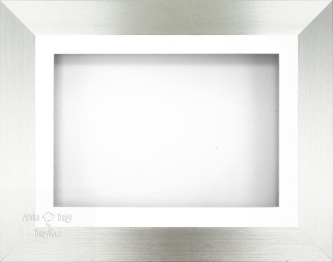 "11.5x8.5"" Silver 3D Shadow Box Deep Display Frame"