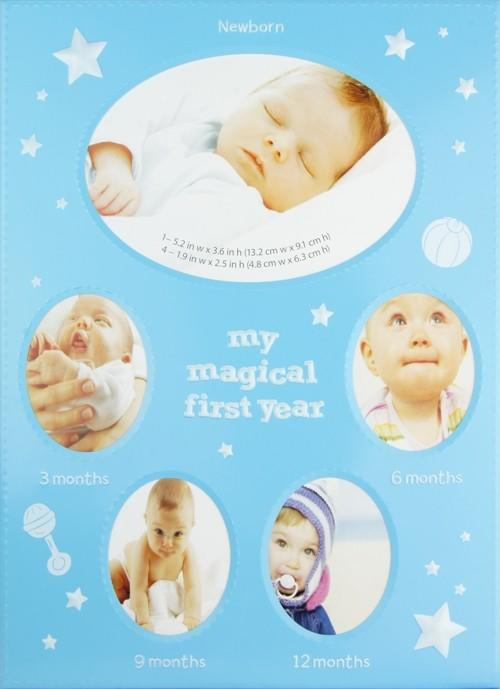 My Magical First Year Photo Timeline Stage Frame - Blue