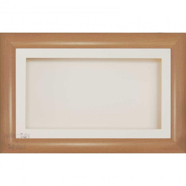 "15x9"" Beech Effect Box Display Frame Keepsakes Casts"