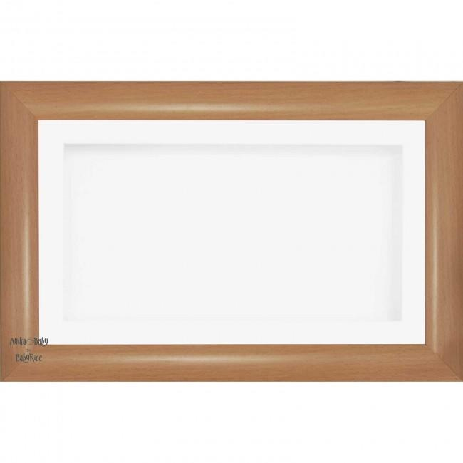 "15x9"" Wooden Shadow Box Deep Frame, Beech effect, White"