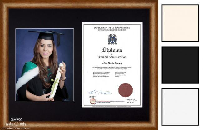 Large Dark Wood Finish Frame A4 10x8 Photo Picture Certificate Graduation Diploma Wedding