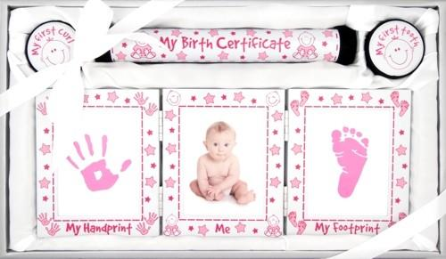 Baby Girl White and Pink Keepsakes 4 Piece Gift Set