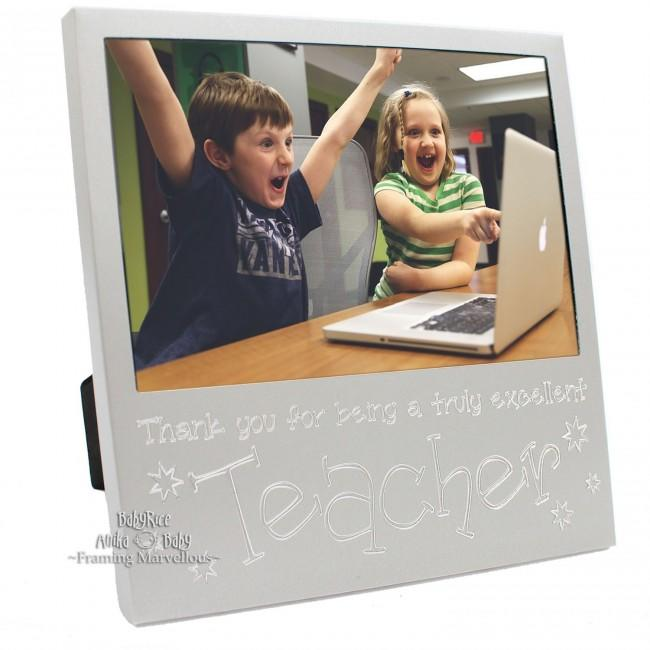 New Engraved Silver Thank You Teacher Photo Frame