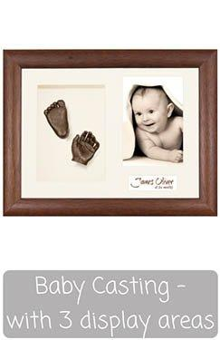 Baby Casting Kit with Frame - Photo, Casts, Text Display