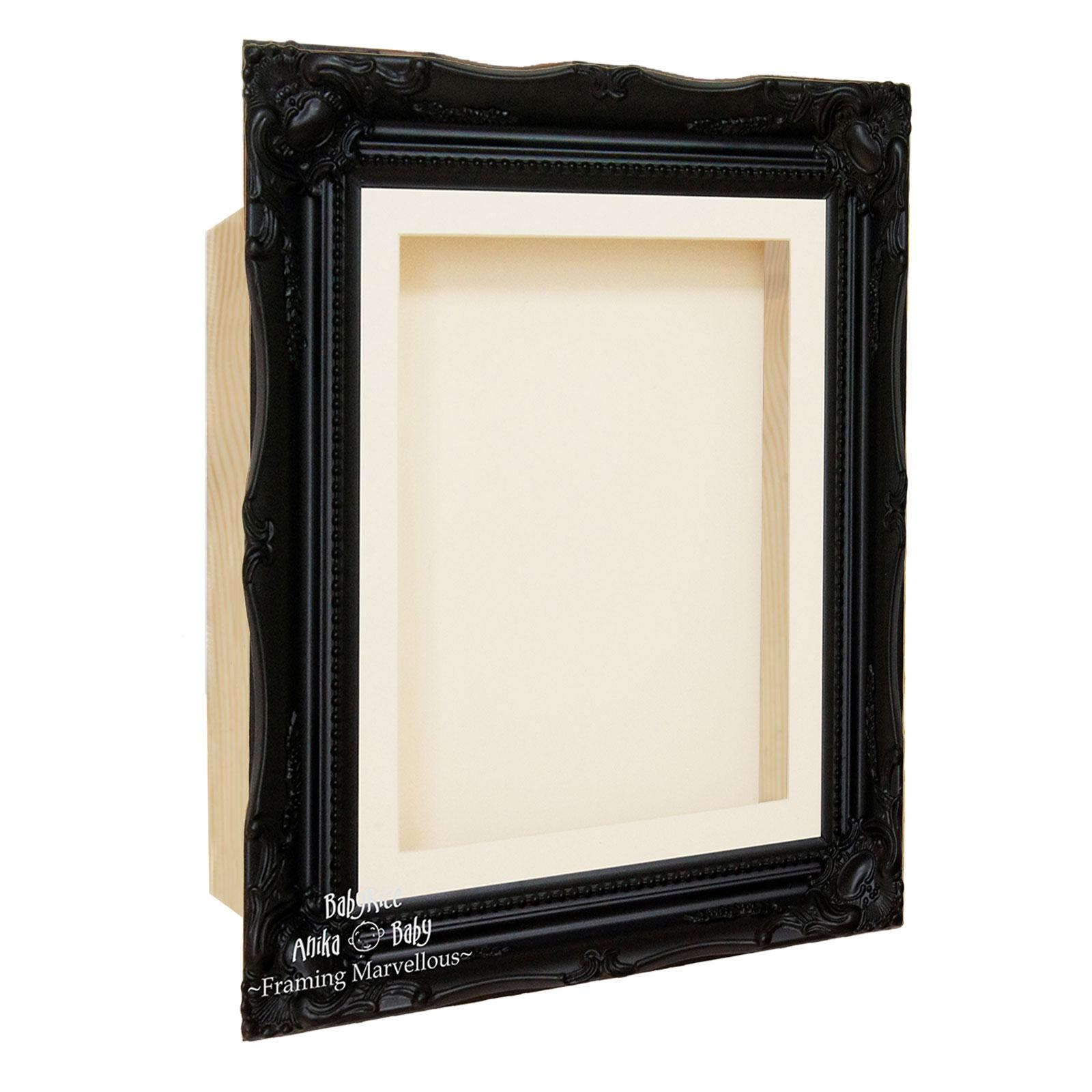 Ornate Black Swept Shadow Box Display Frame