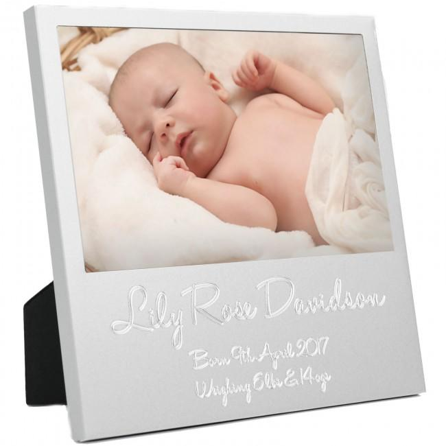 New Baby Personalised Birth Details First Photo Frame