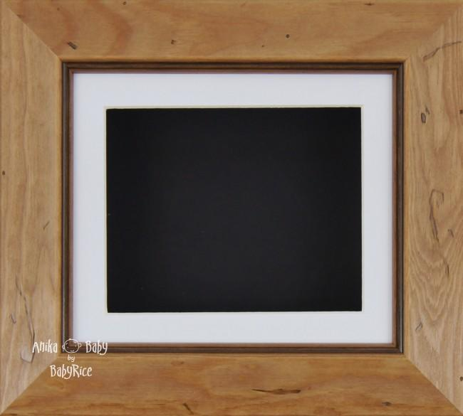Rustic effect Small Display Frame / White mount & Black backing card