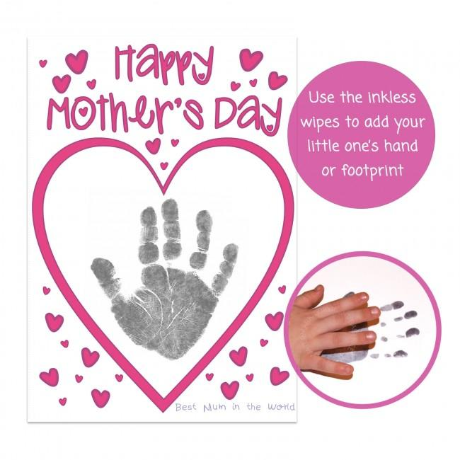 Baby Handprint on First Mothers Day Card