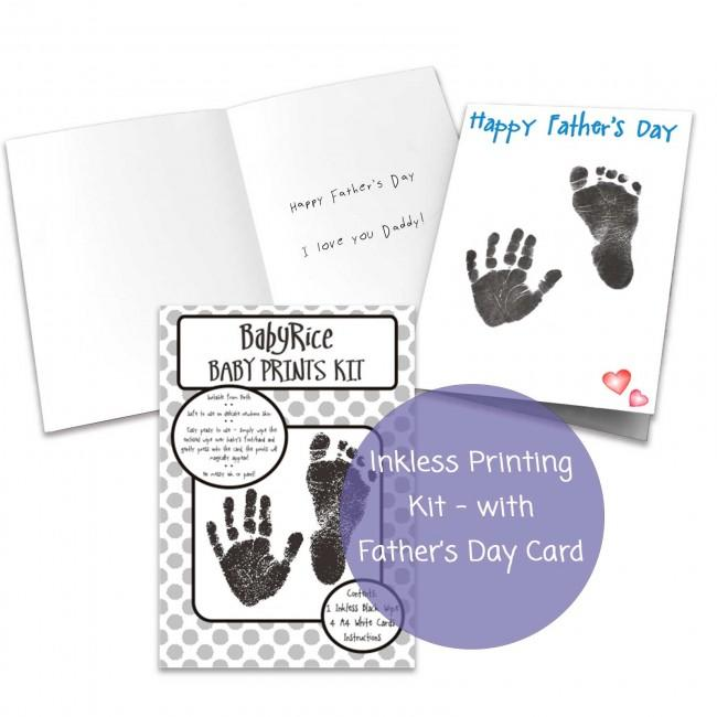 Father's Day Card Kit YOUR Baby's Prints Son Daughter Handprints