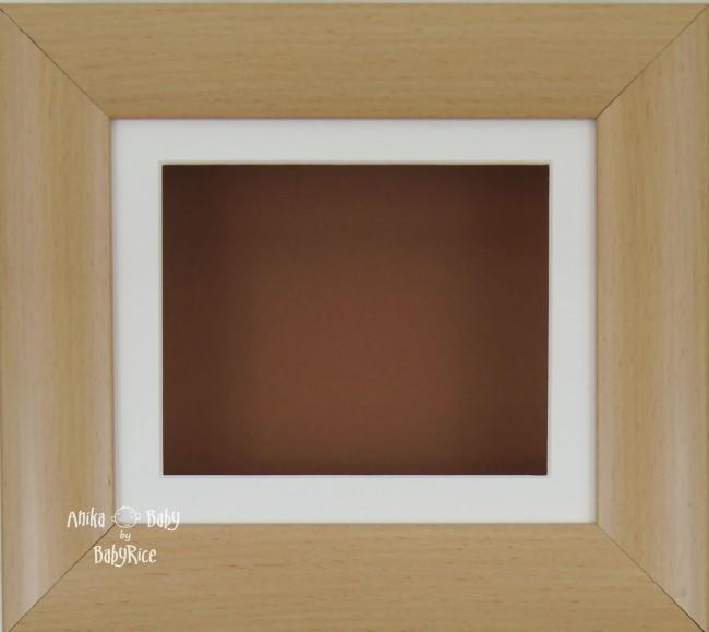 "6x5"" Beech Effect display frame / Cream mount & Brown Backing"