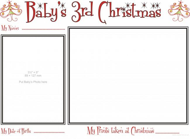 Template of Babys third Xmas to complete