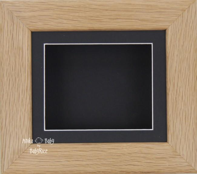 Solid Oak 3D Shadow Box Display Frame / Black Mount & Backing Card