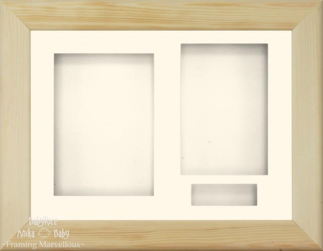 Natural Pine 3D Display Box Frame Cream