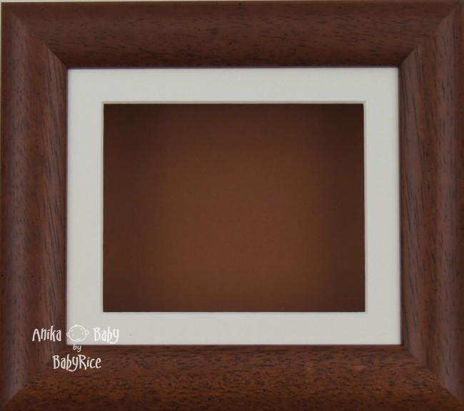 "6x5"" Dark Wood display frame / Cream mount & Brown Backing"