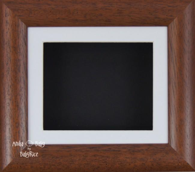 "6x5"" Dark Wood display frame / White mount & Black Backing"