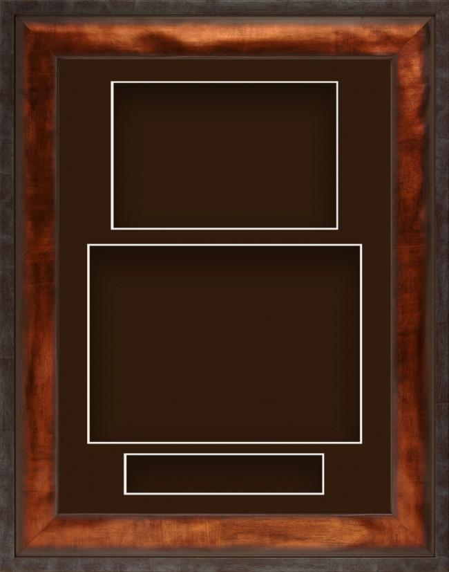 12x9 Urban Bronze Deep Display Frame Brown Portrait