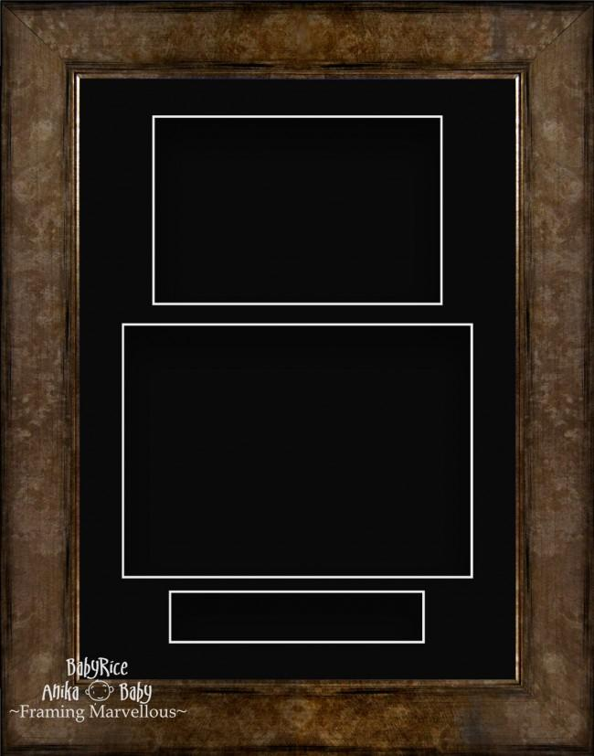 "11.5x8.5"" Bronze Brown 3D Deep Box Frame Black Display Portrait"