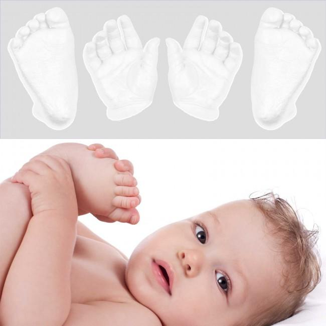 Baby 3d hands and feet Casting Kit Ivory White Pearlescent paint