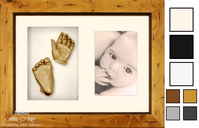 BabyRice Anika Baby Casting Keepsakes Kit 3D Prints Hand Footprint Cast Gift