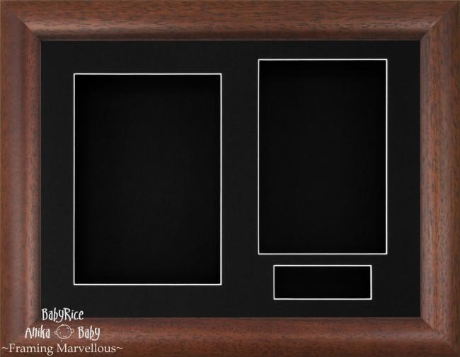 Dark Wood Rustic 3D Display Box Frame Black