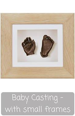Baby Hand & Foot Casting Kit with Box Display Frame