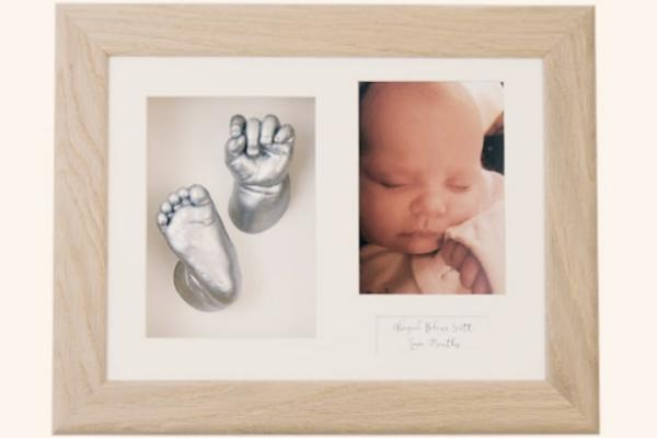 New Baby Casting Kit Twins Siblings Unique Christening Gifts Keepsakes Solid Oak