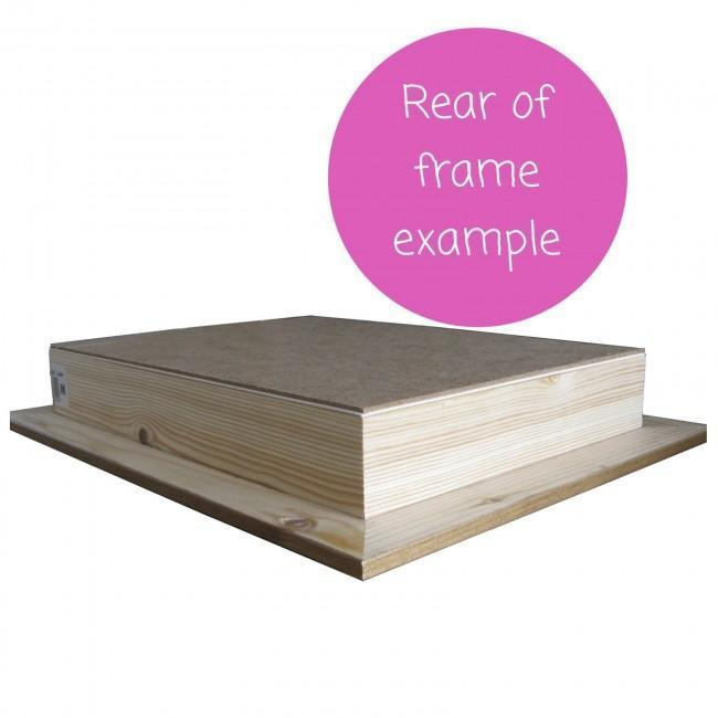 1.75 inch Pine Box at rear of shadow display frame