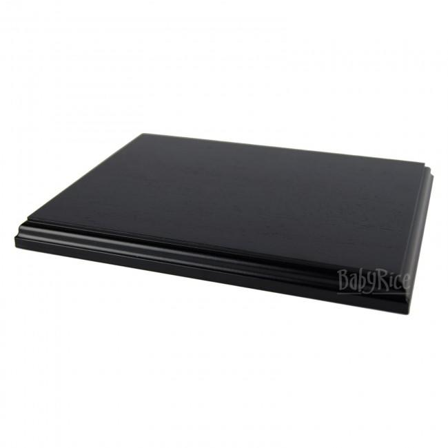 Black Display Plinth 8x6'' (optional engraved plaque)